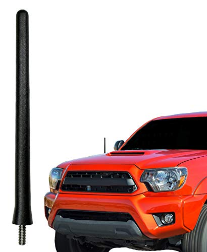 AntennaMastsRus - The Original 6 3/4 Inch is Compatible with Toyota Tacoma (1995-2015) - Car Wash Proof Short Rubber Antenna - Internal Copper Coil - Premium Reception - German Engineered