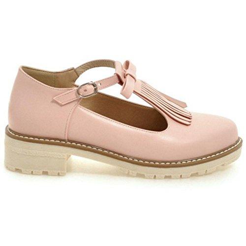 Coolcept Zapatos T-bar con Flecos para Mujer Pink