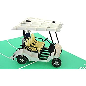 amazon com poplife golf cart pop up card for all occasions happy