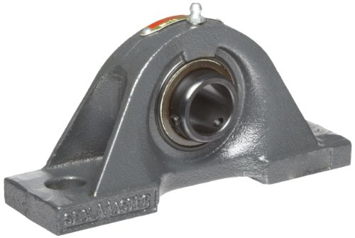 "Sealmaster SP-48 Pillow Block Ball Bearing, Non-Expansion Type, Normal-Duty, Regreasable, Setscrew Locking Collar, Felt Seals, Cast Iron Housing, 3"" Bore, 4"" Base to Center Height, 11-3/8"" Bolt Hole Spacing Width, ±2 degrees Misalignment Angle"