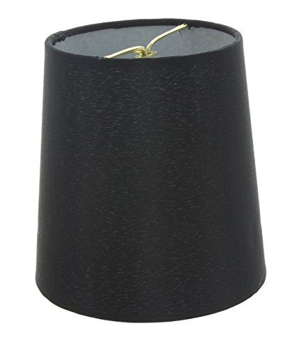 Upgradelights 5 Inch European Drum Style Chandelier Lamp Shade Mini Shade Black Silk 4x5x4.5 ()