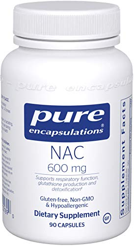 Pure Encapsulations – NAC (N-Acetyl-L-Cysteine) 600 mg – Amino Acids to Support Antioxidant Defense and Healthy Lung Tissue – 90 Capsules