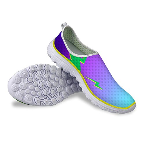 FOR U DESIGNS Cool Womens Breathable Mesh Athletic Sneaker Running Shoes Purple lMmuX