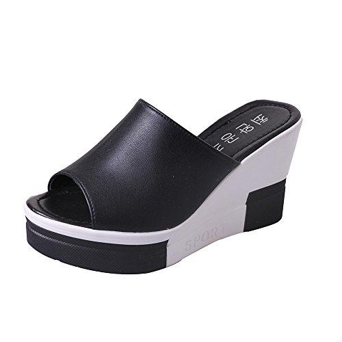 Women's Summer Sandals Shoes Peep-Toe Shoes Roman Sandals Ladies Flip Flops,Outsta 2019 Deals! Fashion Shoes Black