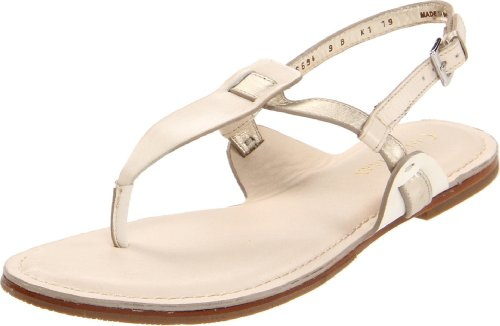 Cole Haan Women's Bridget Thong Sandal,White/Gold/Ivory,6 B US by Cole Haan