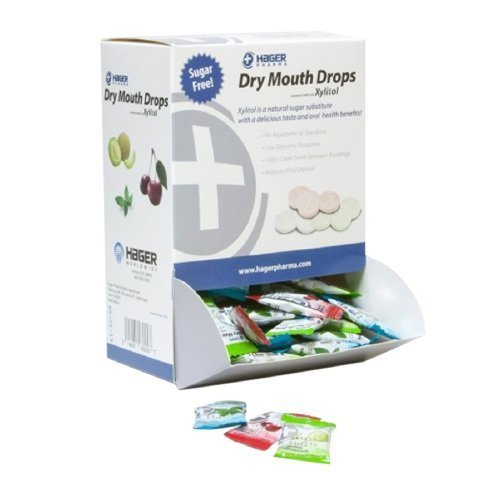 Hager Pharma Dry Mouth Drops with Xylitol, Assorted Pack--156 ea -