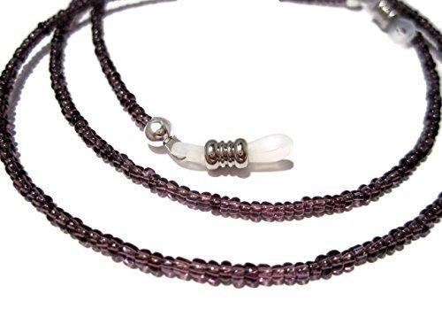 - ATLanyards Pretty Plum Purple Seed Bead Eyeglass Holder Purple Beaded Eyeglass Chain