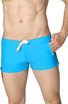 c562578fe7 Hombre Bañadores De Natación Troncos Secado Rápido Bañadores Cortos Trajes  De Baño para Playa Piscina Azul. Cargando imágenes.