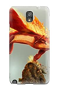 Cute Appearance Cover/tpu Fire Dragon Case For Galaxy Note 3
