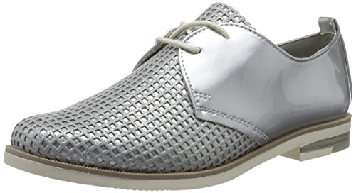23200 Tozzi Silver Scarpe Basse com 939 Marco Donna Argento Stringate Met Oxford Owa6Bxq5