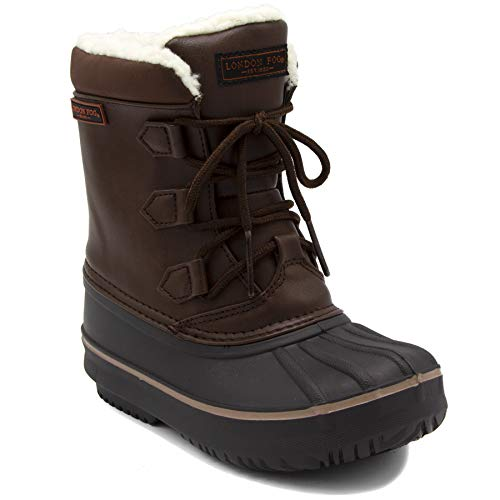 London Fog Boys Cheshire Cold Weather Snow Boot Brown 4 by London Fog (Image #4)