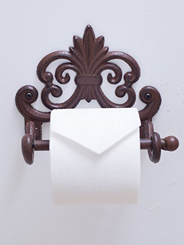 Cheap  Fleur De Lis Cast Iron Toilet Paper Roll holder - Cast Iron..