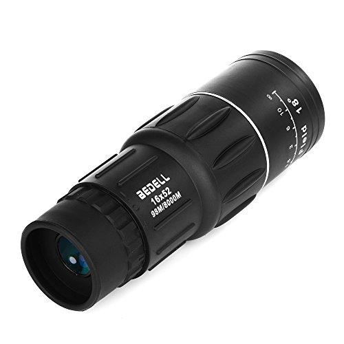 Patuoxun® Beweglicher 16x52 Dual Focus Wasserdicht Super Clear Einrohr Teleskop Optik Zoom Monokular Scalable Fernrohr für Outdoor Camping Reise Vögel