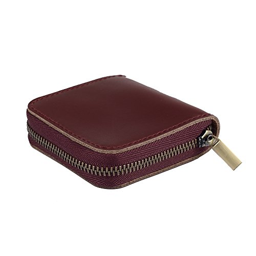 Abahub Leather Coin Case/Holder Small Zipper Bag