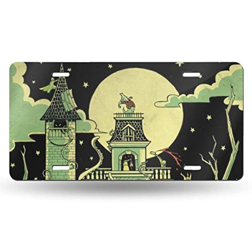 Halloween Party Novelty Design Metal License Plate Tag Sign 6