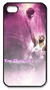 icasepersonalized Personalized Protective Case for iPhone 4/4S - Tim Duncan, NBA San Antonio Spurs by icecream design