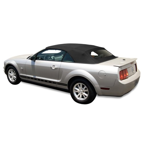 Sierra Auto Tops Convertible Top Fits 2005-2014 Ford Mustang (all models), Stayfast Canvas, Black