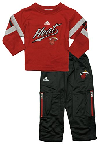 Miami Heat NBA Little Boys 2-Piece Long Sleeve Shirt and Pant Set (24M)