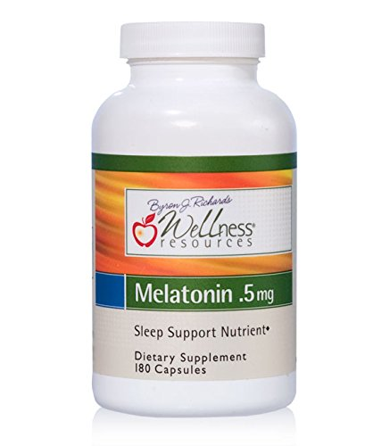 Wellness Resources Melatonin 0.5 mg - 180 Veggie - Mg 0.5 Capsules