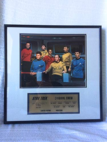 Star Trek the Original Series Complete Cast Signed Autographed the Original Crew Limited Edition # 1,405 of 2,500 Framed Photo