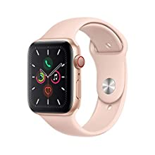 Apple Watch Series 5 (GPS + Cellular, 44mm) - Gold Aluminum Case with Pink Sport Band