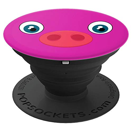 Cute Pink Pig Face | Funny Halloween Party Gift Idea | Women - PopSockets Grip and Stand for Phones and Tablets]()