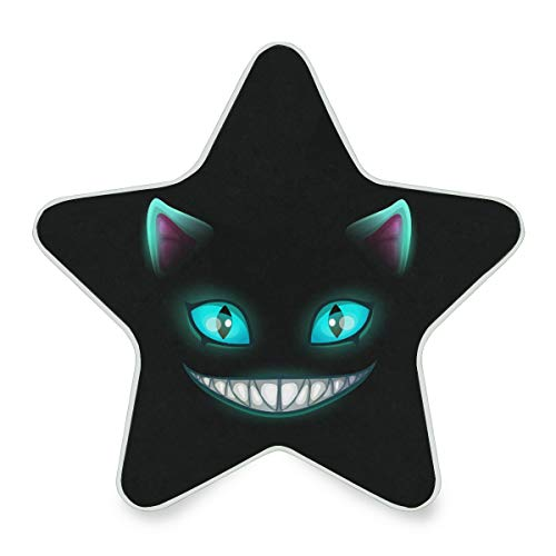 Oarencol Fantasy Scary Smiling Cat Face On Black Cheshire Halloween Plug-in LED Night Light with Auto Dusk-to-Dawn Senor Wall Lamp for Kids Baby Girls Boys Adults]()