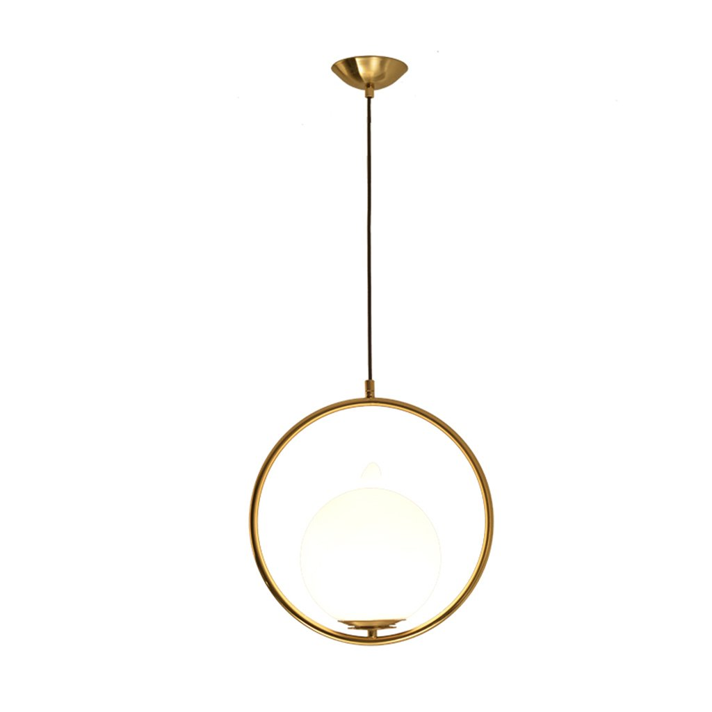 ZYANZ- Glass Chandelier Creative Personality Simple Bedroom (E27 Lighting Interface) Bedside Lamp Bedroom Art Round Glass Ball Table Chandelier ( Color : Gold )
