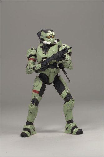 Olive HALO 3 Series 4 Spartan Security Soldier Action Figure