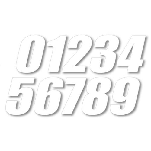 """One Industries 6"""" Supercross Numbers Motocross Motorcycle Graphic Kit Accessories - White / No. 1 - One Size"""