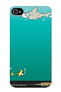 Goldenautumn Case Cover For Iphone 4/4s - Retailer Packaging Fishe Animal Cartoon Funny Cartoon Cartoon Pictures Protective Case