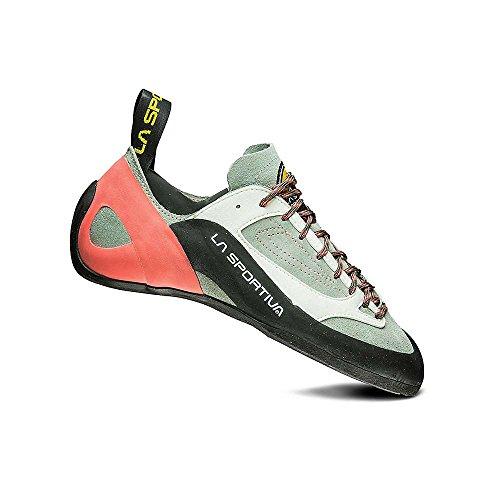 La Sportiva Finale Women's Climbing Shoe, Grey/Coral, 41