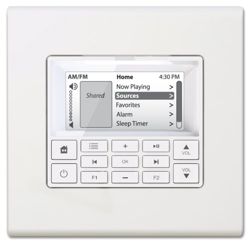Russound Multiline Display Keypad White MDK-C6