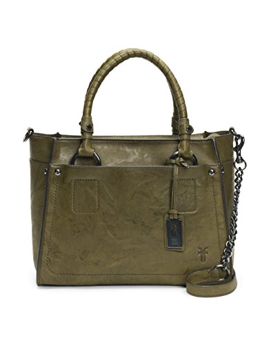 FRYE Demi Satchel Leather Handbag, Olive