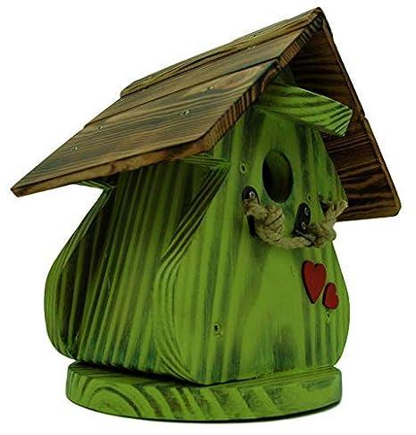 Caseta para pájaros, casa para pájaros producto Francais, 27 cm alto, manzana verde