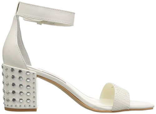 Dolce Women's White Leather Vita Heeled Off Sandal Dorah Sliced rqrCSZ