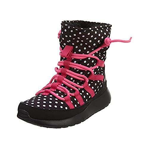 ac4614d9bd43a durable modeling Nike Youth Girls Roshe One Hi Print Sneaker Boots ...