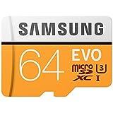 Samsung EVO 64 GB Micro SD Class 10 Memory Card with Adaptor