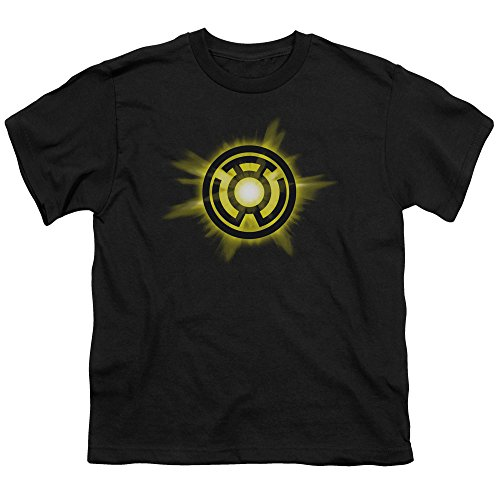 (Green Lantern Yellow Glow Unisex Youth T Shirt for Boys and Girls, Small)