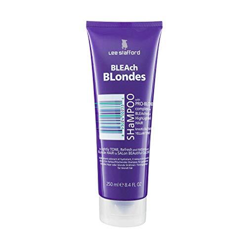Lee Stafford Bleach Blondes Purple Toning Shampoo | A Weekly Toning Purple Shampoo for Blonde Hair
