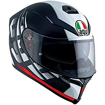 AGV K5 S Darkstorm Black Red Size ML - DOT-Approved