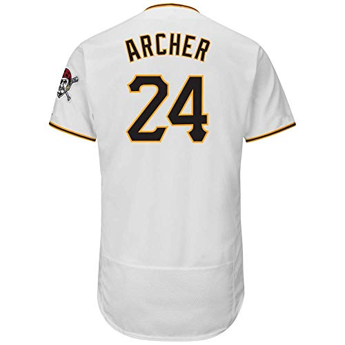 (CNmlb Men's/Women/Youth_Chris_#24_Archer_White_Home_Flex_Base_Authentic_Collection_Player_Jersey)