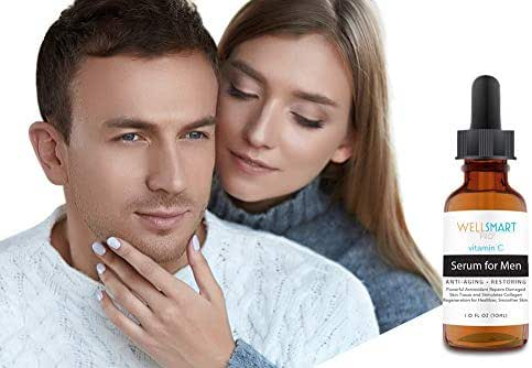 WellSmart Pro Vitamin C Serum for Men – Premium Organic Vitamin C Face Serum for Men – Anti-Aging, Anti-Wrinkle – Regenerates Collagen, Repairs & Restores Smooth & Healthy Facial Skin – Fragrance-Free