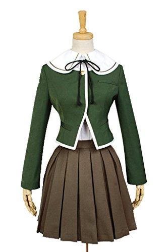 [Halloween Cosplay Danganronpa Chihiro Fujisaki Uniform Outfit Suit Dress Cosplay Costume] (Chihiro Cosplay Costume)