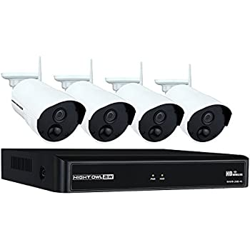 Night Owl Camera System 4 Channel 1080p Wireless Smart Security Hub, White  (WNVR201