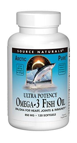 Source Naturals ArcticPure Omega-3 Fish Oil 850 mg Softgels, 120 ct