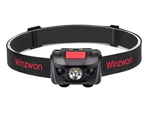 Winzwon LEDヘッドランプ 小型軽量 最高照度防水 登山/キャンプ/サイクリング/ハイキング/防災/夜釣り/非常時用