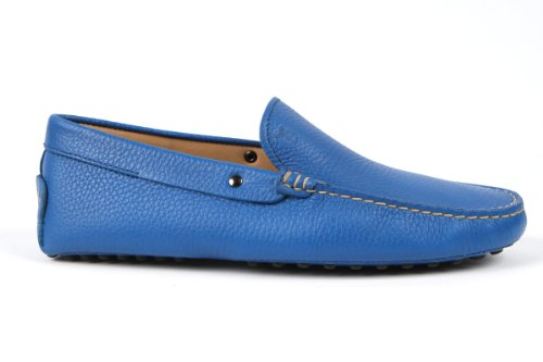 Tod's Mens Electric Blue Gommino Slipper Moccasins USA Size 8 (Printed Size 7) T066