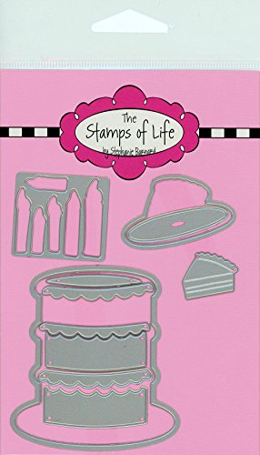 The Stamps of Life Wedding and Birthday Cake Die Cuts for Card Making Scrapbooking by Stephanie Barnard - Cake2Stamp Dies ()