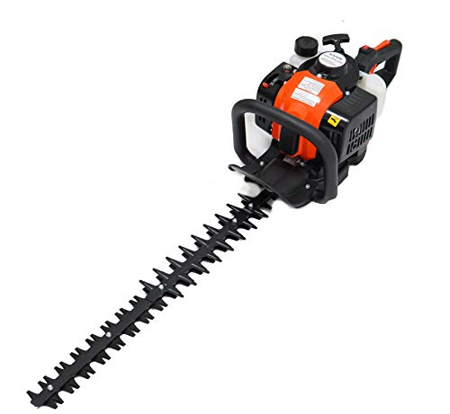 ToolTuff 24″ Blade Hedge Trimmer, 26cc Gas Power, Double Sided